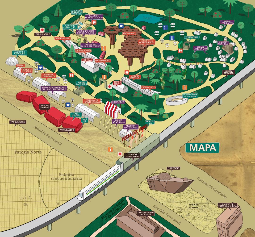 Mapa 9a Fiesta del libro y la cultura
