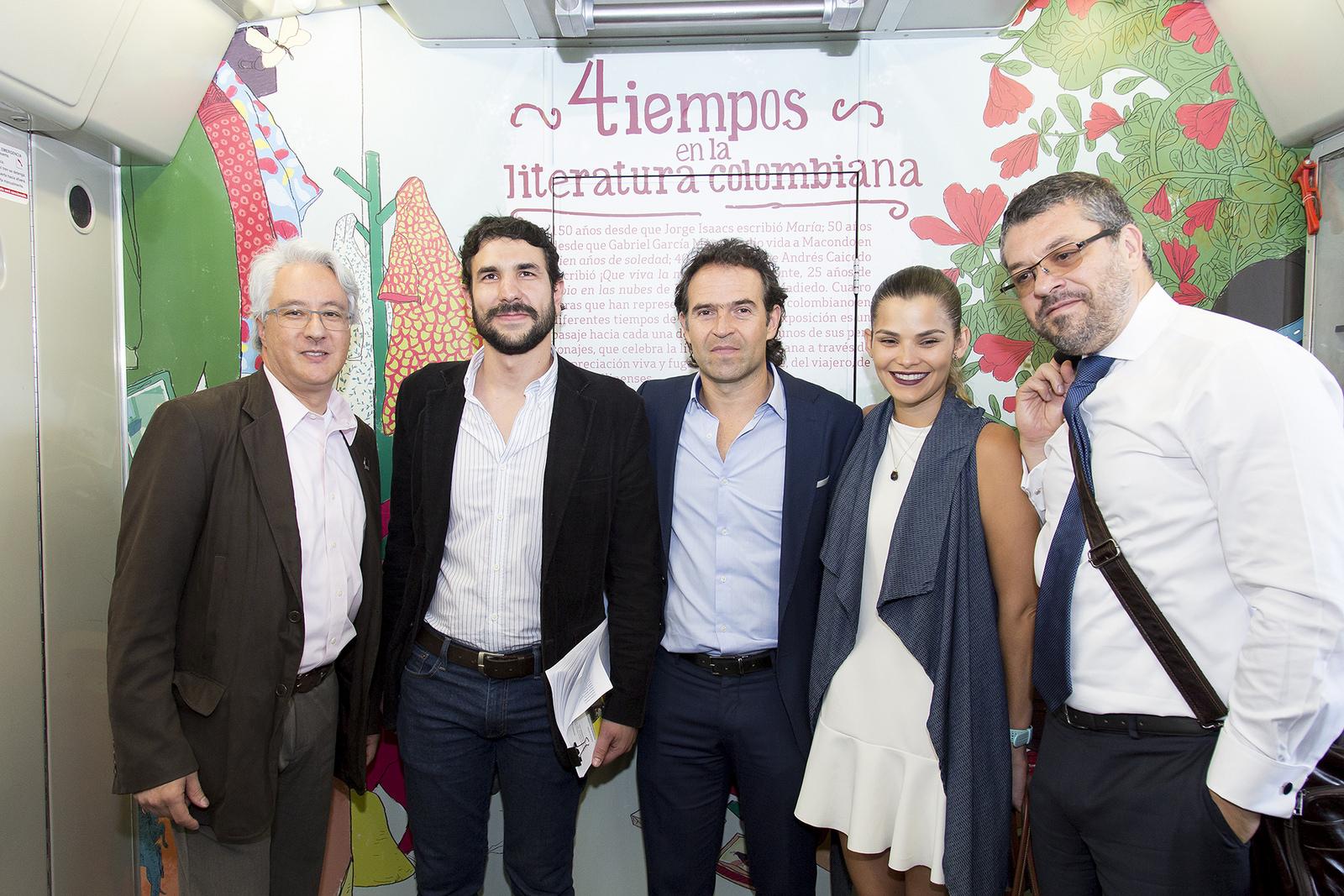 A bordo del Tren de la Cultura del Metro de Medellín se hizo el lanzamiento de la 11ª Fiesta del Libro y la Cultura